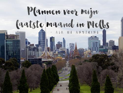 Plannen in oktober in Melbourne
